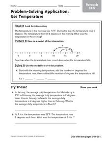Problem-Solving Application: Use Temperature: Reteach Worksheet