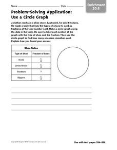 Problem Solving Application: Use a Circle Graph - Enrichment Worksheet