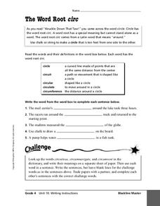 "The Word Root ""Circ"" Worksheet"