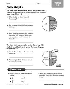 Circle Graphs: Practice Worksheet