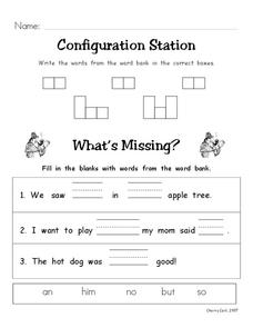 Configuration Station Worksheet