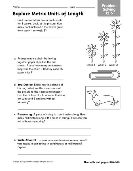 explore metric units of length problem solving 12 6 worksheet for 3rd 4th grade lesson planet. Black Bedroom Furniture Sets. Home Design Ideas