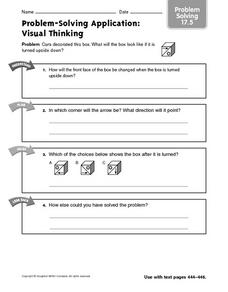 Problem-Solving Application: Visual Thinking 17.5 Worksheet