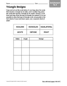 Triangle Designs - Enrichment 16.5 Worksheet