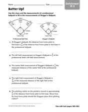 Batter Up! - Enrichment 19.5 Worksheet