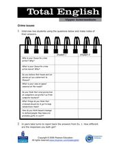 Total English Upper Intermediate: Crime Issues Worksheet