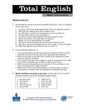 Total English Upper Intermediate: Phrasal Verb Fun Worksheet