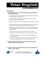 Total English Advanced: Telling Stories Worksheet