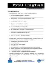 Total English Upper Intermediate: Getting Things Done! Worksheet