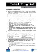 Total English Upper Intermediate: Using Adjectives and Adverbs Worksheet