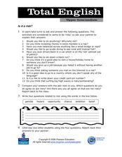 Total English Upper Intermediate: Is It a Risk? Worksheet