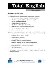 Total English Intermediate: Getting the Question Right Worksheet
