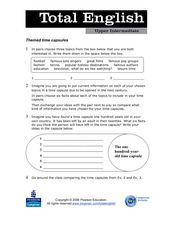 Total English Upper Intermediate: Themed Time Capsules Worksheet