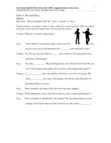 ESL: Do, Does, Doesn't and Don't Worksheet