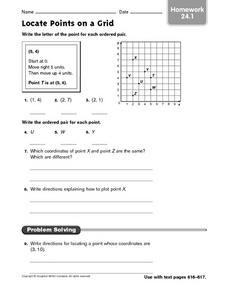 Locate Points on a Grid Worksheet