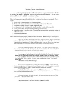 Writing Catchy Introductions Worksheet