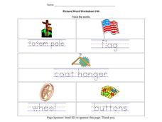 Picture/Word Worksheet $46 Worksheet