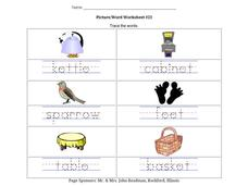 Picture/Word Worksheet #23 Worksheet