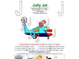 Jolly Jet: The Letter J Worksheet