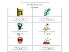 Picture/Word Worksheet #13 Worksheet