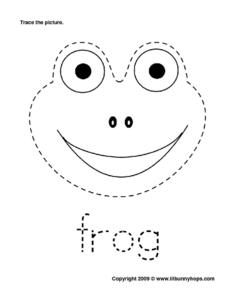 Frog Trace Worksheet