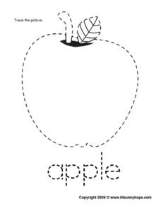 Apple Trace Worksheet
