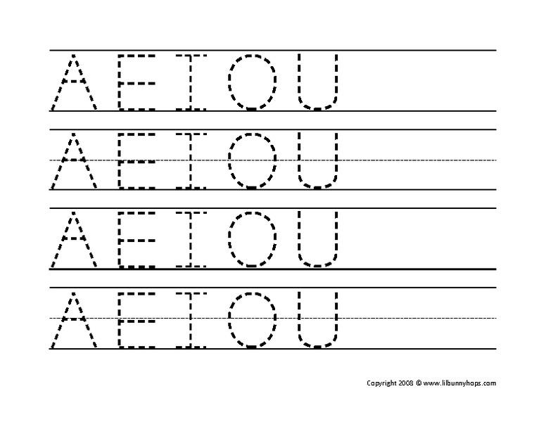 vowel trace worksheet for kindergarten 1st grade lesson planet. Black Bedroom Furniture Sets. Home Design Ideas