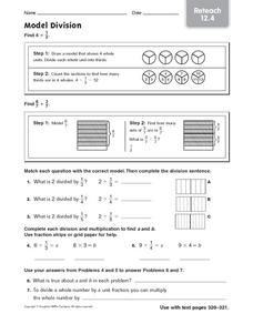 Model Division: Reteach Worksheet