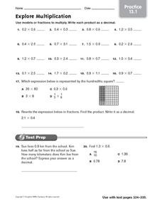 Explore Multiplication: Practice Worksheet