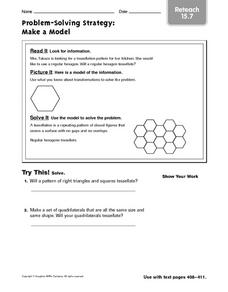 Problem Solving Reteach: Make a Model Worksheet