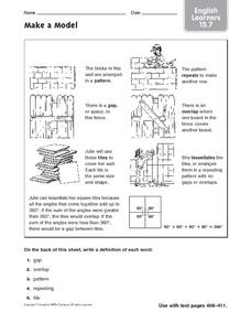 Make a Model: ELL Worksheet