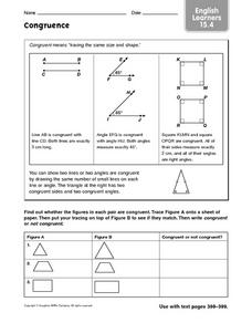 Congruence: ELL Worksheet