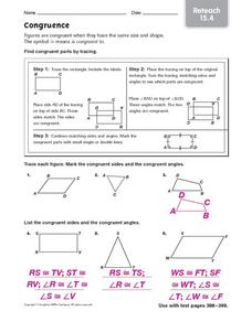 Congruence Worksheet