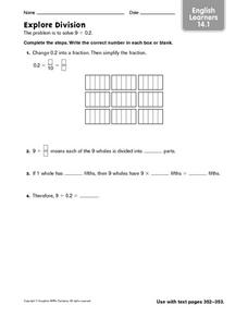 Explore Division Worksheet