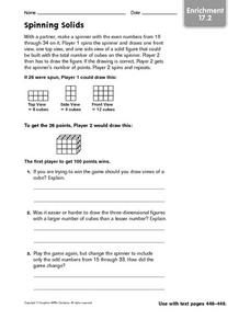 Spinning Solids Worksheet