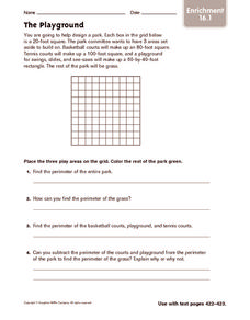 The Playground: Enrichment Worksheet