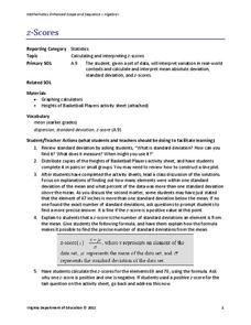 Standard Deviation Z Score Lesson Plans & Worksheets