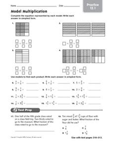 Model Multiplication practice 12.1 Worksheet