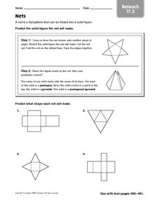 Nets - Reteach 17.3 Worksheet