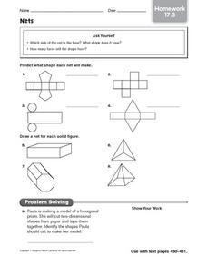 Nets - Homework 17.3 Worksheet