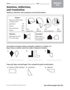 Translation And Reflection Worksheet Pdf Worksheets for all ...