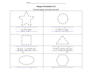 Shapes Worksheet  2 Worksheet