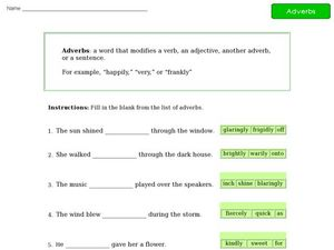 Adverbs 5 Worksheet