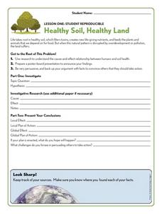 Healthy Soil, Healthy Land Worksheet