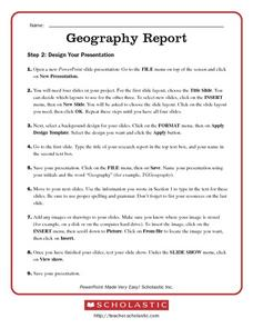 Geography Report Worksheet