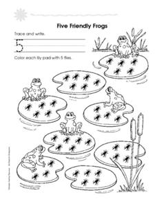 Five Friendly Frogs and Six Smelly Shoes Worksheet