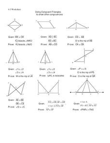 Congruent Triangles Worksheet