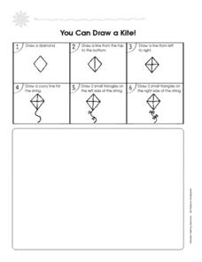 You Can Draw a Kite! Worksheet