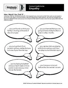 Personal Health Series - Empathy Worksheet