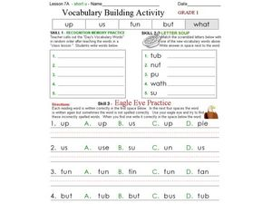 Vocabulary Building Activity 3 Worksheet